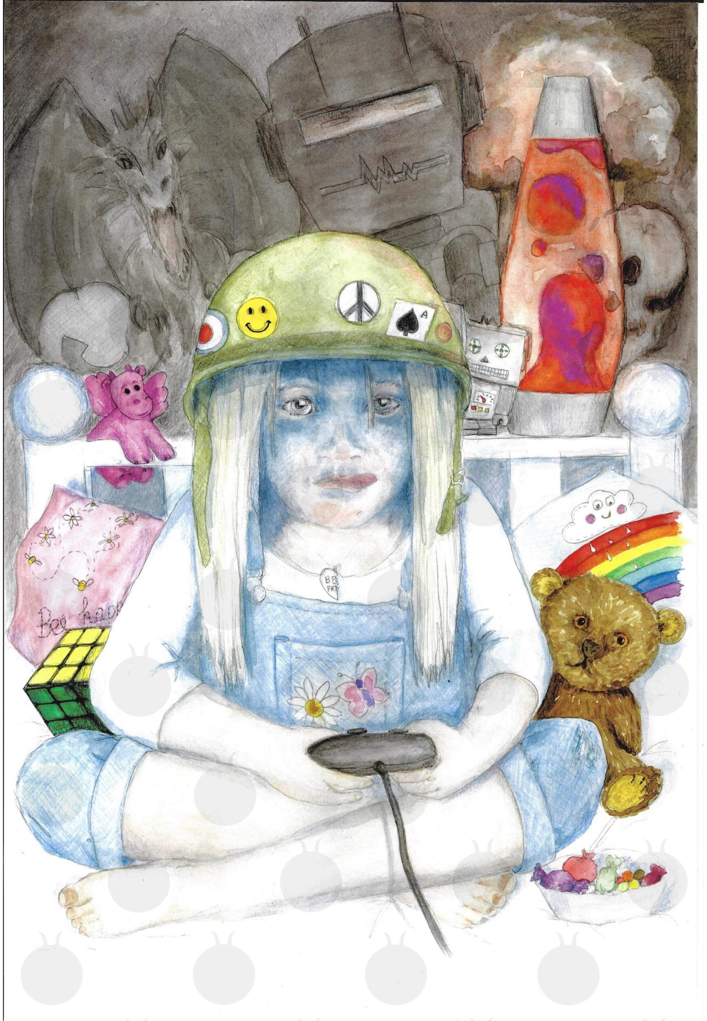Rachel Parham Original Artwork: Bubblegum Soldier